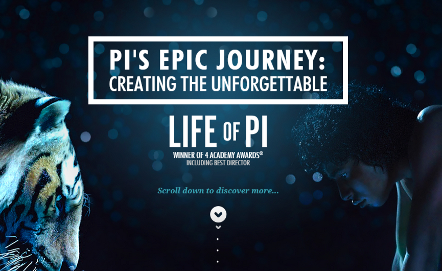 Parallax technique - Life of Pi