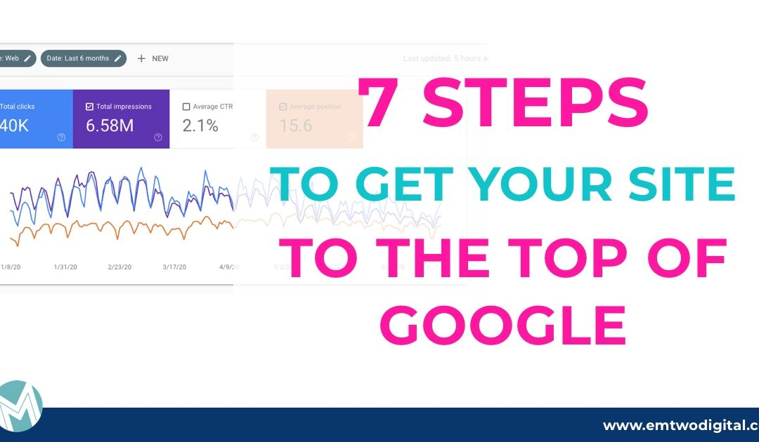 7 steps to get your website to the top of Google search results
