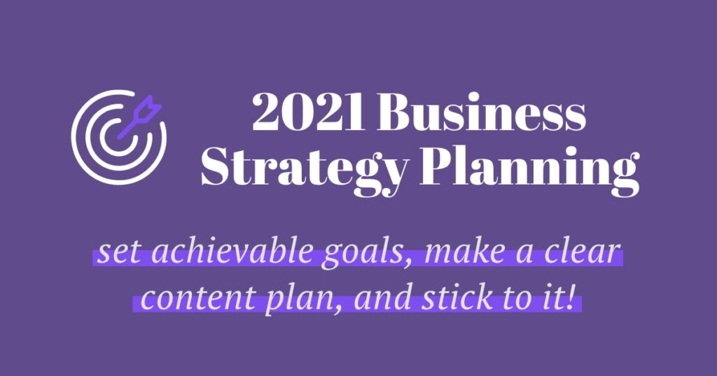 2021 Strategy Planning