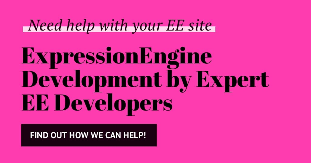 Why upgrade ExpressionEngine to the latest version? (now EE6!) 2