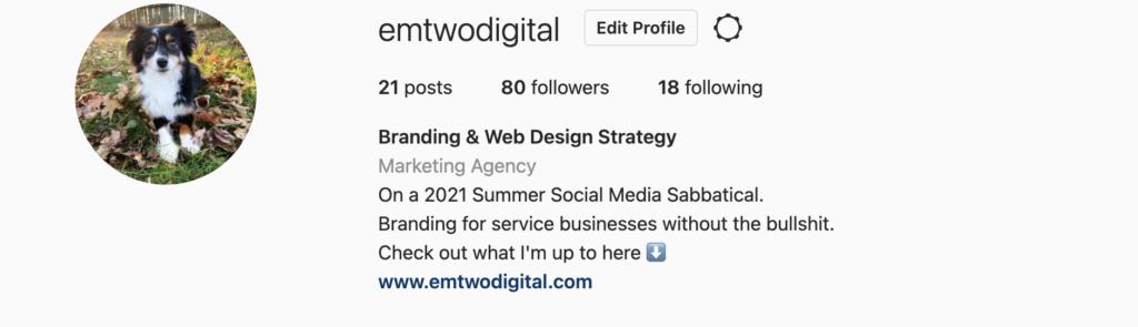 2021 Summer Social Media Sabbatical 1