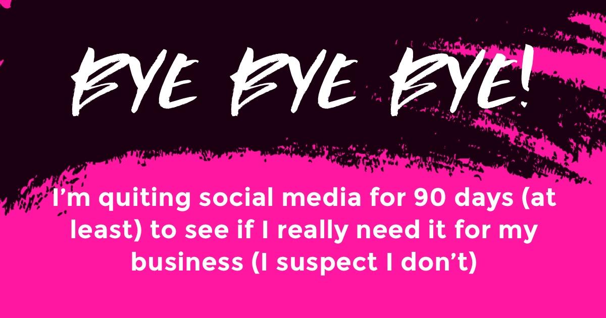 2021 Summer Social Media Sabbatical